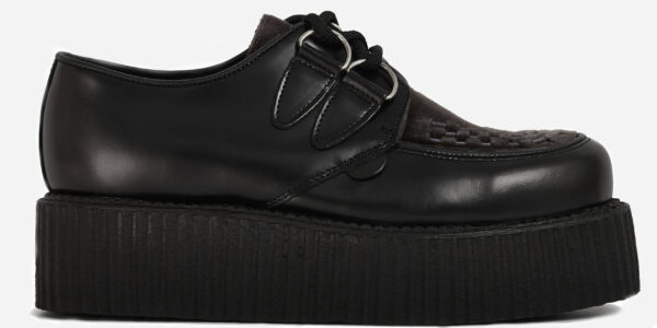 Underground Original Wulfrun Creeper black leather shoe for men and women