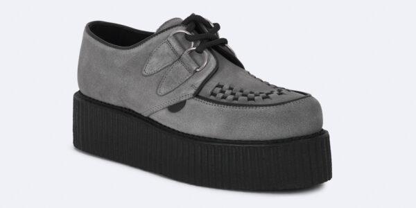 Underground Original Wulfrun Creeper grey suede shoe for men and women