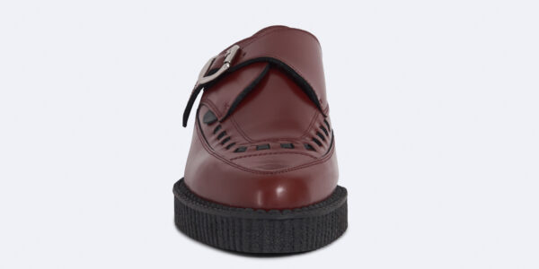 Underground Original Apollo Creeper cherry leather buckle shoe for men and