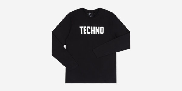 Underground England Techno Long Sleeve T-shirt in black and white for men and women