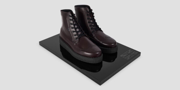 UNDERGROUND - LIMIT – LEATHER BURGUNDY – BOOTS FOR MEN AND WOMEN