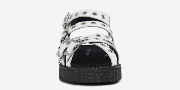 UNDERGROUND CREEPER STRAP SANDAL – WHITE LEATHER – SANDALS FOR MEN AND WOMEN