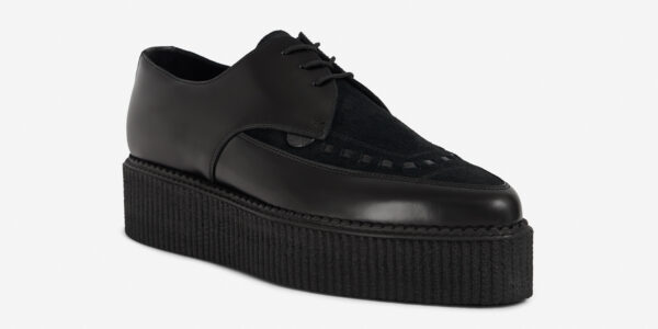 Underground Original barfly Creeper black leather and black suede for men and women