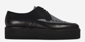 Underground Original barfly Creeper black leather and grey suede for men and women