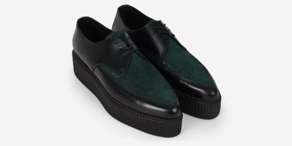 Underground Original barfly Creeper black leather and green suede for men and women