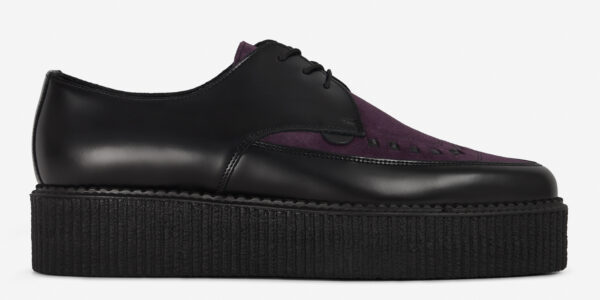 Underground Original barfly Creeper black leather and purple suede for men and women