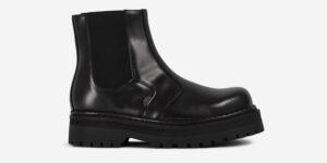 Underground Original Steel Cap Guardsman black leather Chelsea boot for men and women