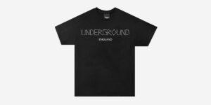 Underground England Bones t-shirt black for men and women
