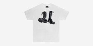 Underground England white moonstomp t-shirt for men and women