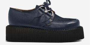 Underground Original Wulfrun Creeper navy leather and shoe for men and women