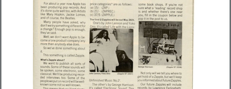 Zapple Records blog at Underground England Music Art Subculture