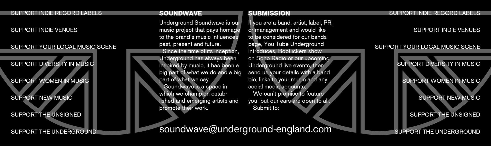 Underground England Bands page banner