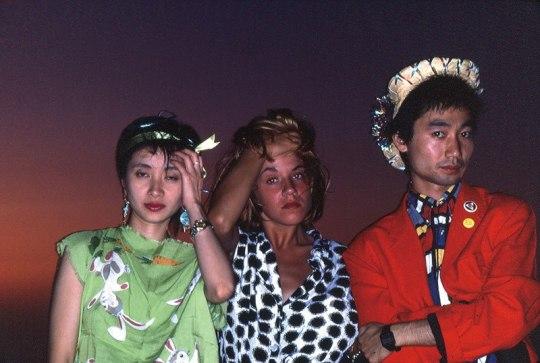 Lizzy Mercier Descloux with Chica Sato and Toshio Nakanishi from The Plastics, ca. 1980. Courtesy of Hajime Tachibana - Underground music blog