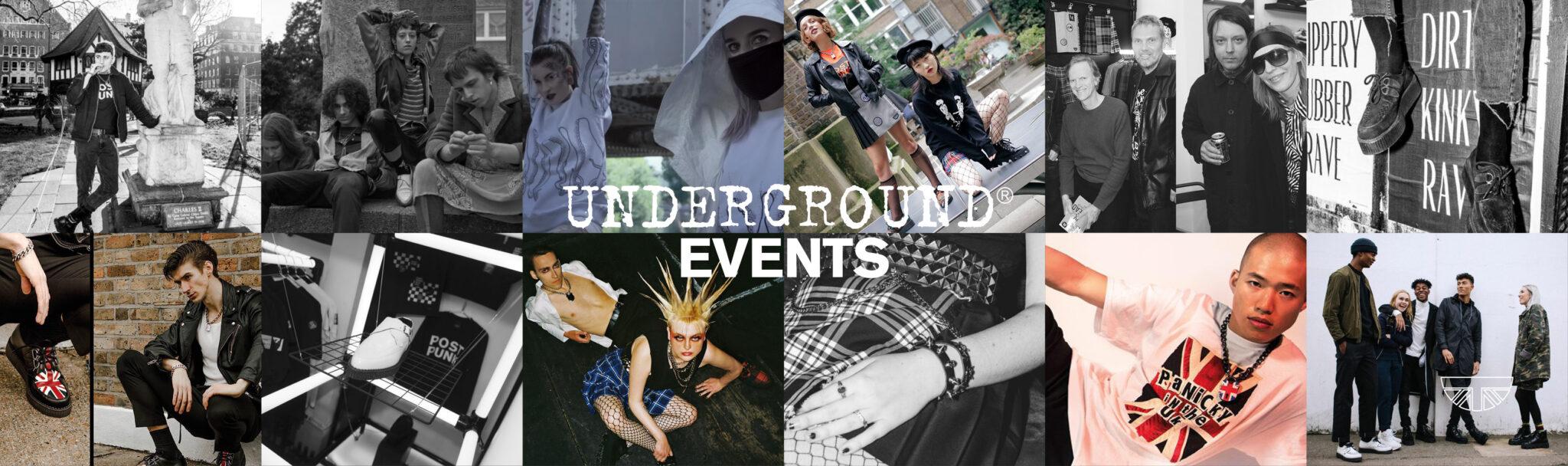 Underground events banner - British subculture