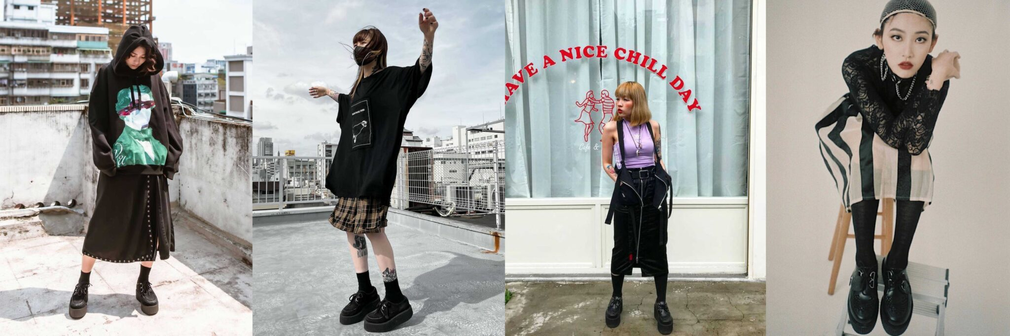 Long skirt - How To Style Creepers - Underground blog