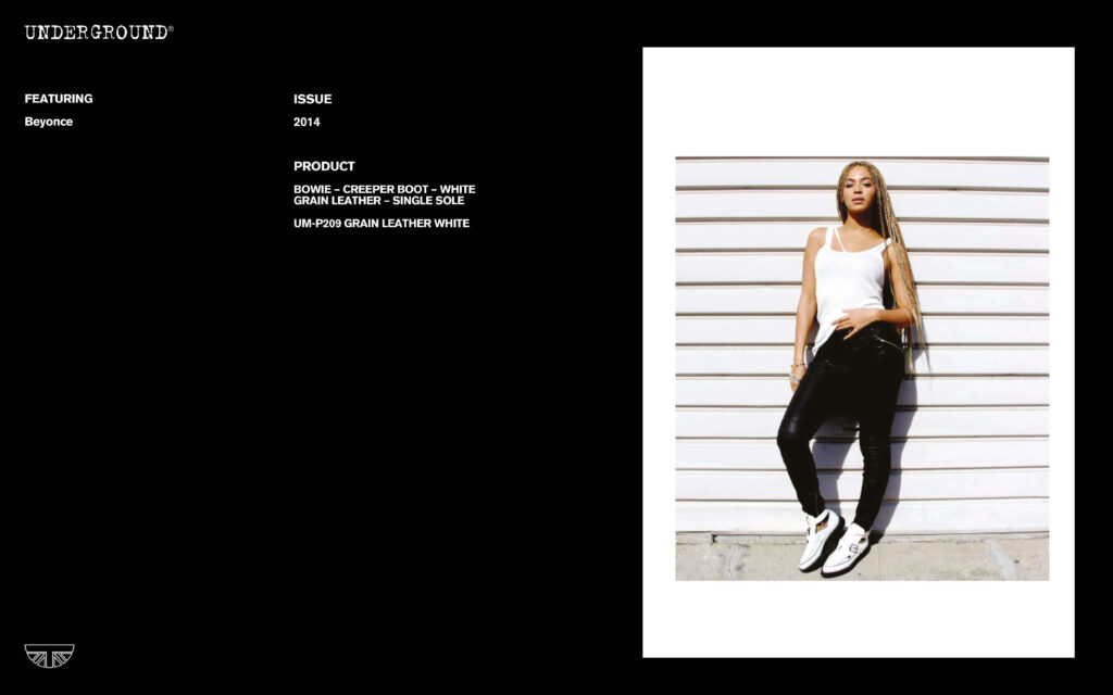 Press Features Gallery - Artists UM-P209 GRAIN LEATHER WHITE Beyoncé