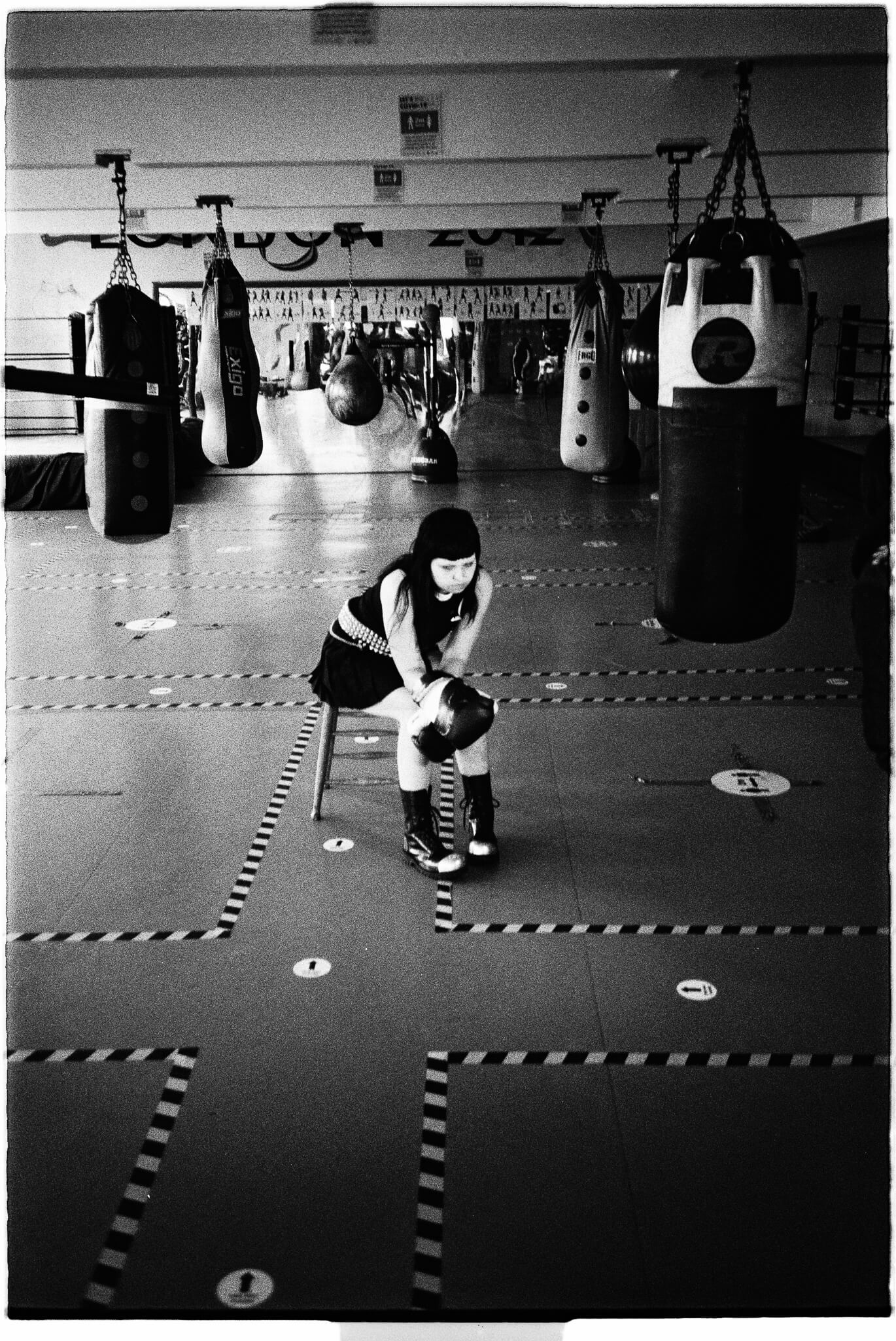 Underground Then and Now - Female boxing shoot