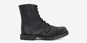 Underground Original Steel Cap Stormer ON MICRO VEGAN BLACK combat boot for men and women