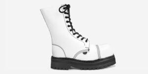 Underground Original Steel Cap Commando white leather combat boot for men and women