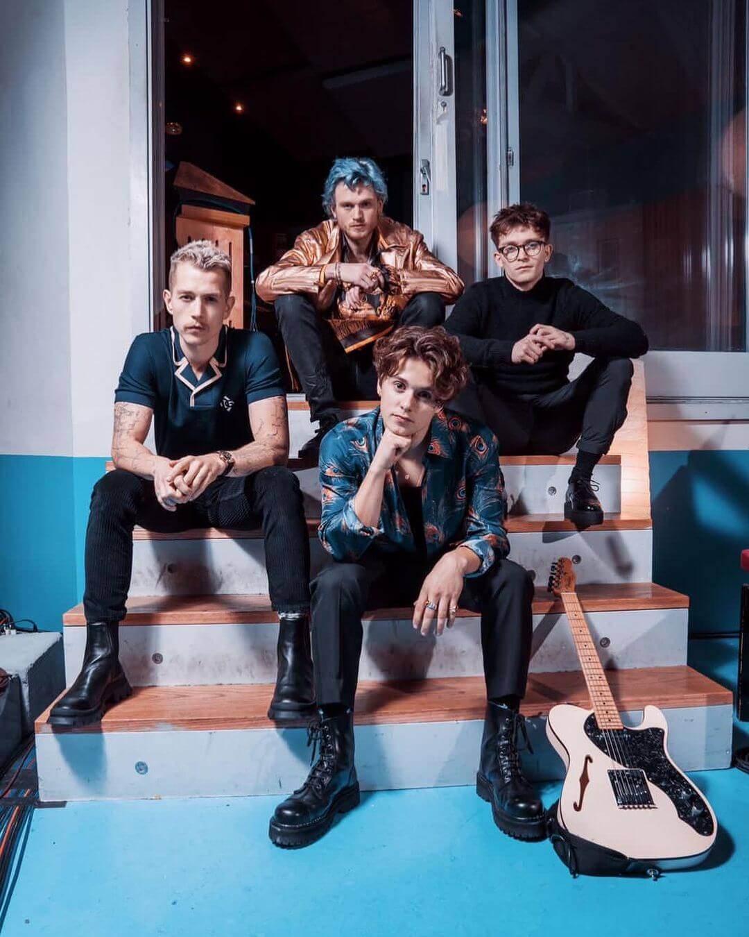 The Vamps band Photo by Dean Sherwood