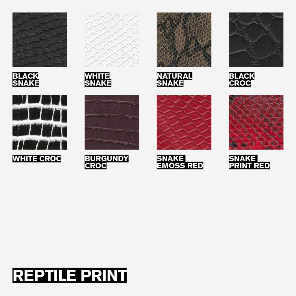 Custom Made Service - Reptile print options