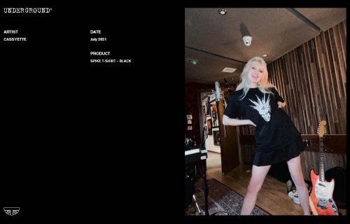 Press Features Gallery - Artists Cassyette AT-015 SPIKE BLACK