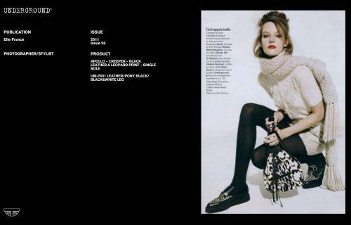 Press Features Gallery - Elle UM-C010X LEATHER BLACK/WHITE
