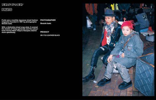 Underground Press Features Gallery - Fruits Photographer: Shoichi Aoki Product: UR-7723 LEATHER BLACK