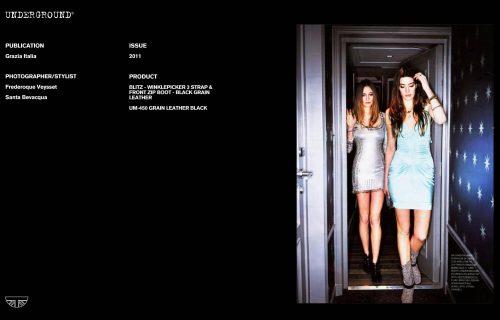 Underground Press Features Gallery - Grazia Photographer/Stylist: Frederoque Veysset Santa Bevacqua