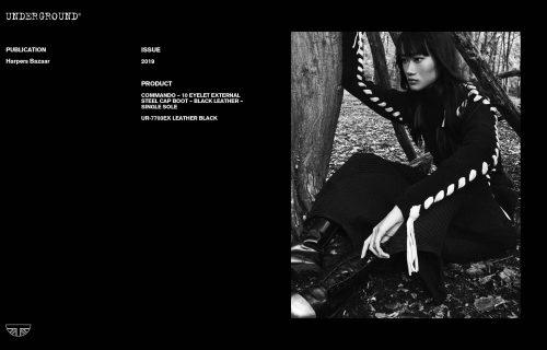 Press Features Gallery - Harpers Bazaar UR-7703EX LEATHER BLACK