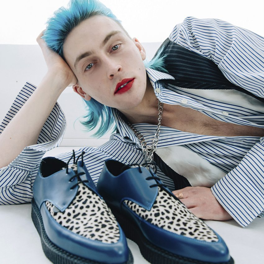 blue and leopard pointed creepers