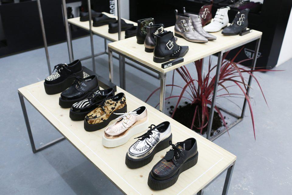 Paris BLK Underground Black Leather Shoes Boots Clothing