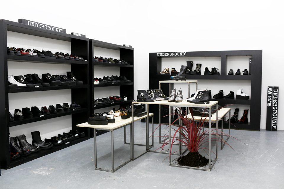 Paris BLK Underground Black Leather Shoes Steel Cap Boots