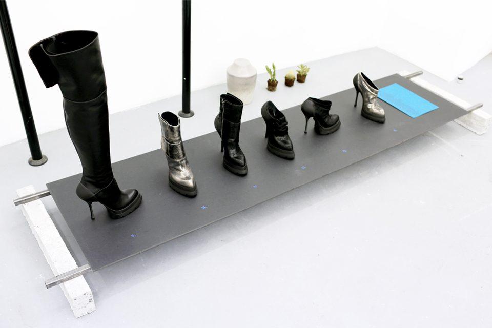 Paris BLK Underground Black Leather Suede Shoes Boot