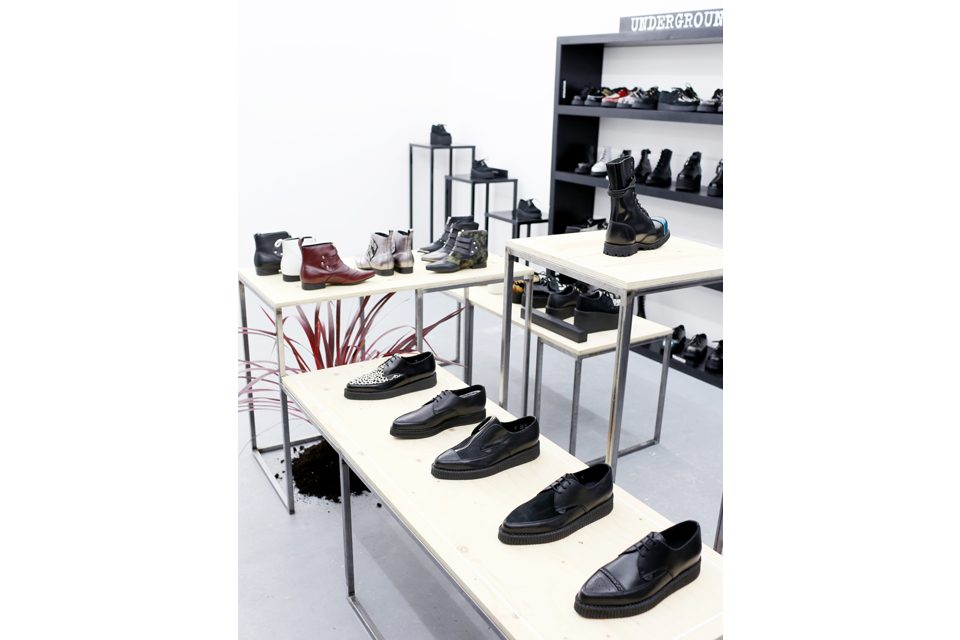 Paris BLK Underground Black White Leather Shoes Boot