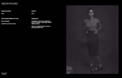 Underground Press Features Gallery - Independents Photographer/Stylist: Ross Shields, Cynthia Lawrence-John