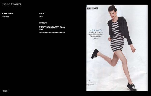 Press Features Gallery - Independents UM-C010X LEATHER BLACK/WHITE