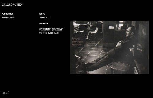 Press Features Gallery - Independents UM-C010X SUEDE BLACK