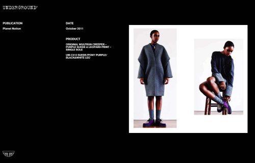 Press Features Gallery - Independents UM-C010 SUEDE/PONY PURPLE/BLACK&WHITE LEO