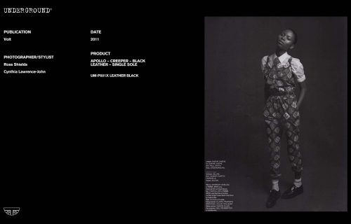 Press Features Gallery - Independents Photographer/Stylist: Ross Shields Cynthia Lawrence-John