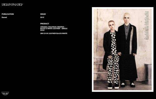 Press Features Gallery - Dazed UM-C010X LEATHER BLACK/WHITE