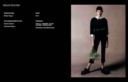 Press Features Gallery - British Vogue - Photographer/Stylist Daniel Jackson Francesca Burns