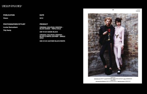 Press Features Gallery - Independents 2012 Photographer/Stylist: Louise Samuelsem Tilly Hardy