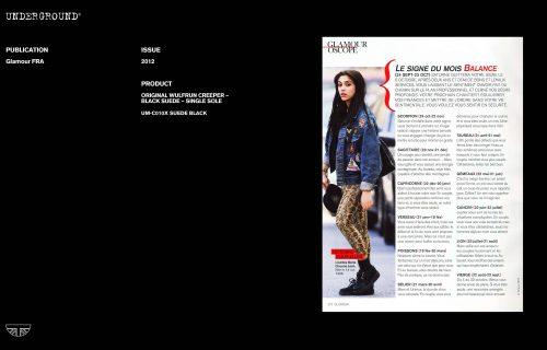 Press Features Gallery - Glamour UM-C010X SUEDE BLACK