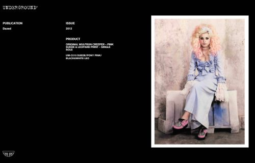 Press features gallery - Dazed UM-C010 SUEDE/PONY PINK/BLACK&WHITE LEO