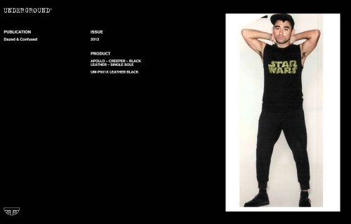 Press features gallery - Dazed UM-P001X LEATHER BLACK