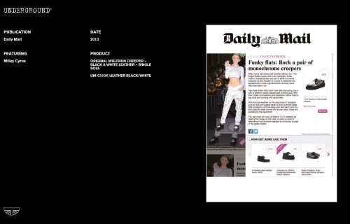 Press Features Gallery - Daily Mail Miley Cyrus UM-C010X LEATHER BLACK/WHITE