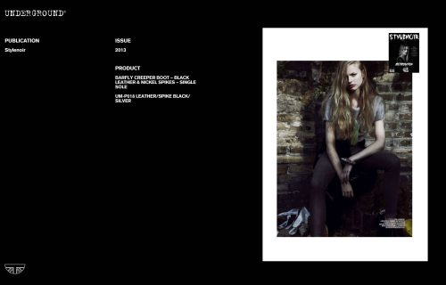 Press Features Gallery - Independents 2013 UM-P018 LEATHER/SPIKE BLACK/SILVER
