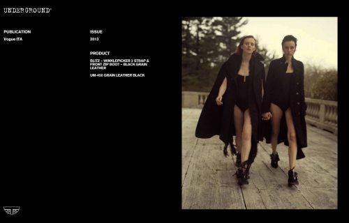 Press Features Gallery - Vogue Italia UM-450 GRAIN LEATHER BLACK