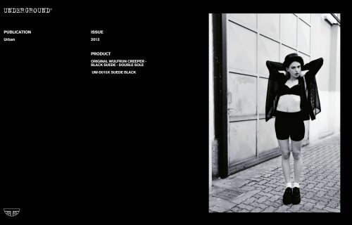 Press Features Gallery - Independents 2013 UM-D010X SUEDE BLACK